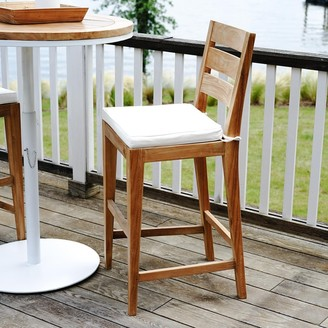 Posh Pollen Palmilla Outdoor Teak Patio Dining Bar Chair