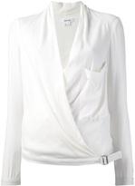 Helmut Lang wrap over blouse