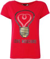 Love Moschino logo print top - women - Cotton - 40