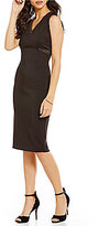 Jessica Simpson Sleeveless V-Neck Cutout Midi Dress