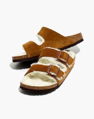 Madewell Birkenstock Suede Arizona Sandals in Shearling