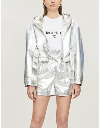 Pinko The Town metallic cotton-blend jacket