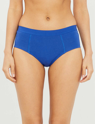 THINX High-rise organic stretch-cotton briefs