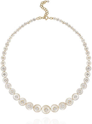 Fernando Jorge Surround 18k Rose Gold Diamond Necklace in Mother-of-Pearl