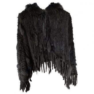 Galliano Black Rabbit Jacket for Women