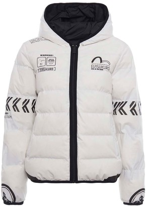 Evisu Printed Reversible Down Jacket