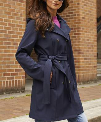 Vince Camuto Women's Windbreakers and Shell Jackets Navy - Navy Trench Coat - Women