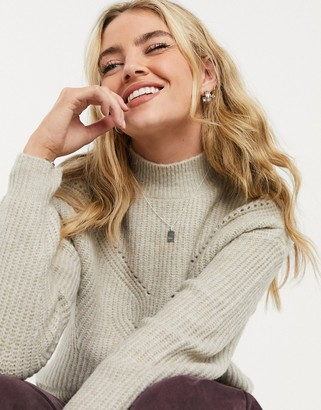 Vila cable knit jumper in natural
