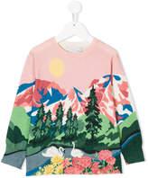 Stella McCartney landscape printed jumper