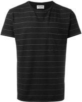 Saint Laurent striped round neck T-shirt - men - Cotton/Linen/Flax/Polyester - S