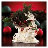 Lenox Petals and Pearls Reindeer with Wreath Vase New in Box