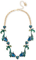 Betsey Johnson Gold-Tone Multi-Stone Fish Collar Necklace
