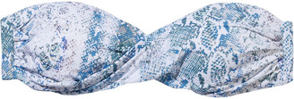 Melissa Odabash Martinique Twist-front Printed Bandeau Bikini Top