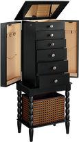Asstd National Brand Black Jewelry Armoire with Basket