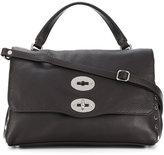 Zanellato foldover satchel with silver-tone hardware details