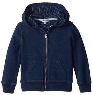Splendid Littles Always Baby French Terry Indigo Hoodie (Toddler/Little Kids) (Dark Stone Indigo) Boy's Sweatshirt