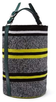 Colville - Wayuu Woven Striped Bucket Bag - Womens - Yellow Multi
