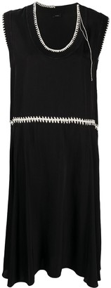 Joseph Crochet-Embellished Midi Dress