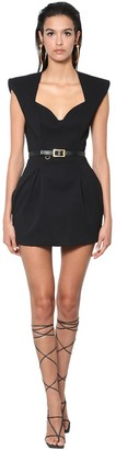 Versace Viscose Cady Mini Dress