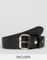 Reclaimed Vintage Embossed Leather Belt Black