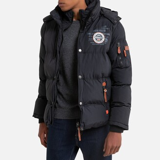 Geographical Norway Verveine Warm Padded Puffer Jacket with Hood and Pockets