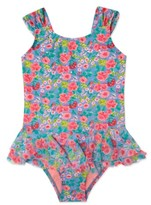 Hula Star Toddler Girl's 'Rose Tango' Floral Print One-Piece Swimsuit