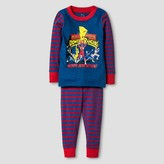 Power Rangers Toddler Boys' Action Long Sleeve Tight Fit 2pc Pajama Set Blue