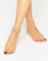 Asos Leaf Anklet & Connecting Toe Ring