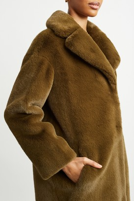 Stand Studio 100% Polyester Camille Cocoon Coat