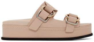 3.1 Phillip Lim Pink Freida Double Buckle Platform Sandals