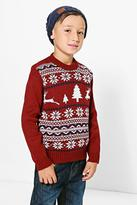 Boohoo Boys Fairisle Christmas Jumper