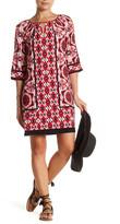 London Times Tiled Keyhole Dress (Petite)
