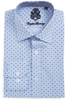 English Laundry Trim Fit Geometric Dress Shirt