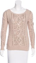 Haute Hippie Sequin-Embellished Wool-Blend Sweater w/ Tags