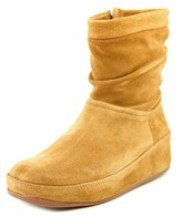 FitFlop Zip Up Crush Women Round Toe Suede Mid Calf Boot.