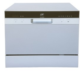 Spt Appliance Inc. Spt Countertop Dishwasher with Delay Start & Led - Silver
