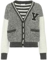 Saint Laurent Wool varsity cardigan