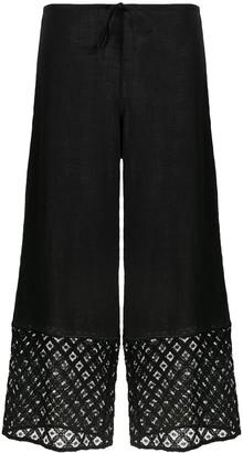 La Perla Embroidered Trim Cropped Trousers