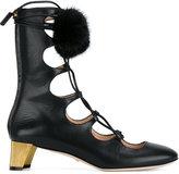 Gucci Heloise pom pom pumps - women - Leather/Mink Fur - 35.5