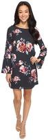 Brigitte Bailey Catie Long Sleeve Shift Dress with Bell Sleeves