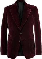 Tom Ford - Burgundy Shelton Slim-fit Velvet Tuxedo Jacket