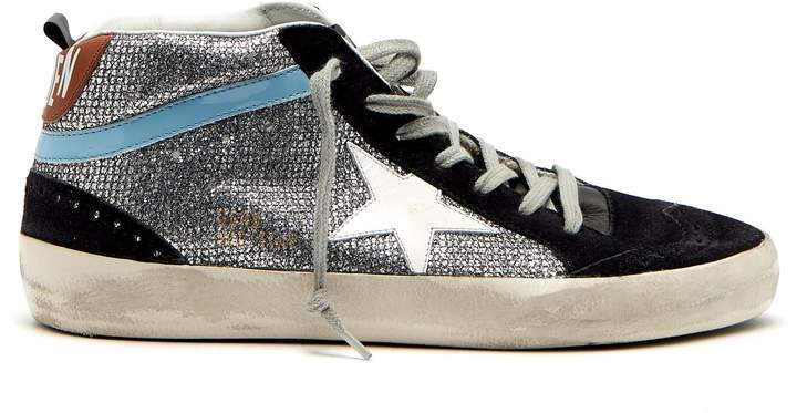 Golden Goose Midstar glitter and suede trainers