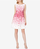 Tahari ASL Petite Floral-Print Fit & Flare Dress