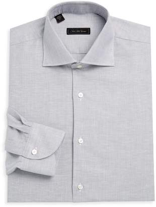 Saks Fifth Avenue Dotted Linen-Blend Dress Shirt
