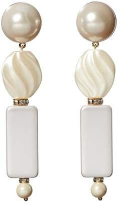 Lele Sadoughi Stacked Pearl Earrings