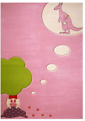 """Ivi Dream Pink Soft Nursery Rug with a Playful Design for Kids Bedrooms and Playrooms, Non-Toxic, Hypo-Allergnic, 72""""L x 54""""W Playmat"""