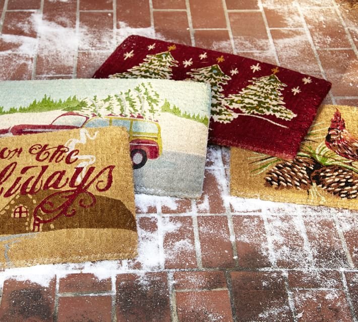 Pottery Barn Christmas Tree Doormat