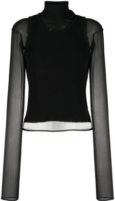 Andrea Ya'aqov Semi-Sheer Cashmere-Blend Jumper