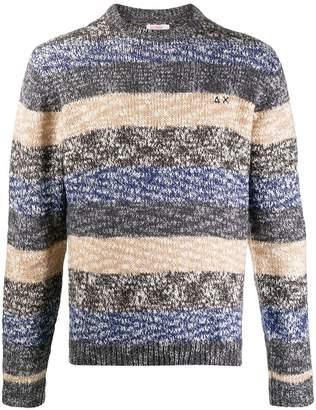 Sun 68 striped patterned sweater