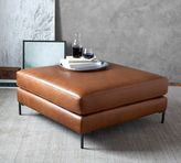 Pottery Barn Jake Leather Sectional Ottoman